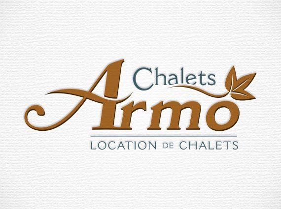 Création du logo de Chalets Armo